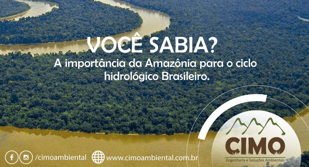 Você Sabia? A influência da amazônia no ciclo hidrológico do sudeste 1