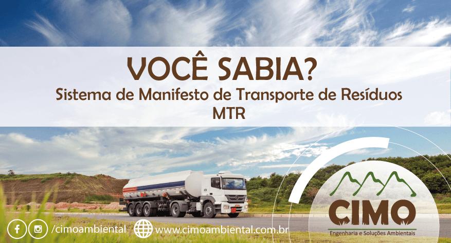 Você Sabia? Sistema MTR Minas Gerais 1
